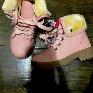 Girls pink boots sizes available
